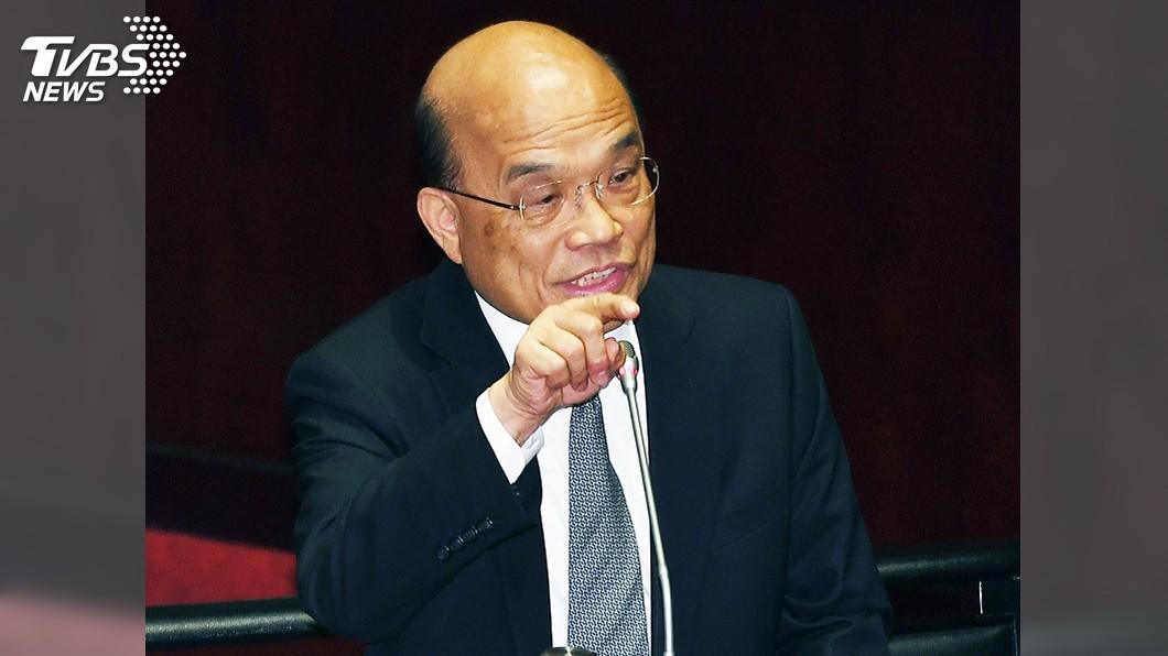 圖/中央社 蘇貞昌:國家利益就是主權守住、經濟發達、人民幸福