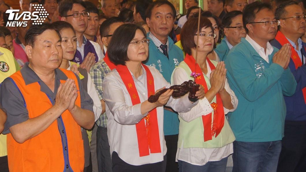 圖/中央社 蔡總統:現在政府最有效率經驗 籲鄉親繼續支持