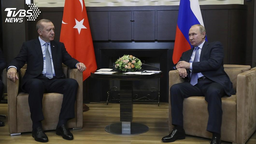 圖/達志影像美聯社 艾爾段與普欽會談 土耳其和平之泉戰果獲維持