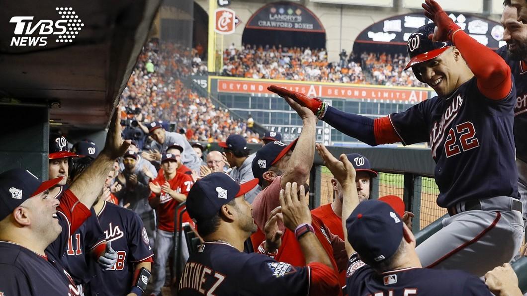 圖/達志影像美聯社 MLB世界大賽首戰 國民5比4擊敗太空人拔得頭籌