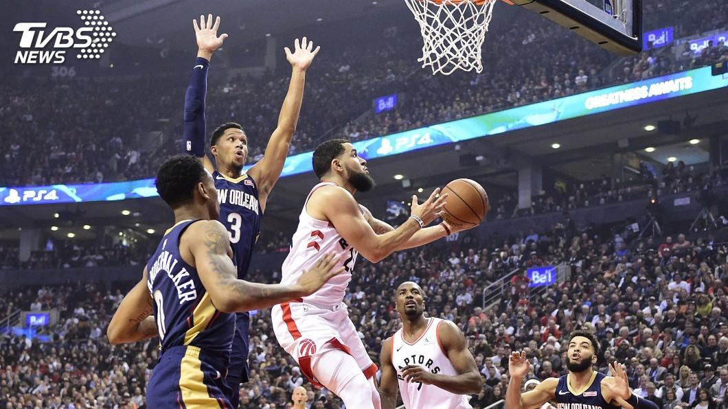 圖/達志影像美聯社 NBA開幕戰暴龍不減冠軍風采 延長賽擒服鵜鶘