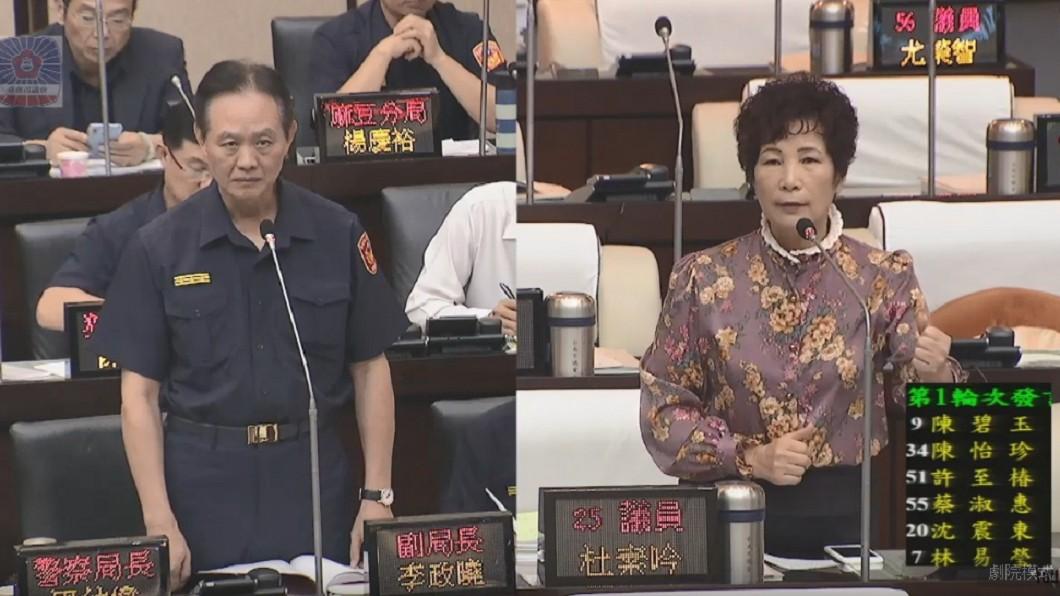 圖/翻攝自台南市議會YouTube 「安全帽會壓壞髮型」 女議員竟要求警:勸導就好別開單