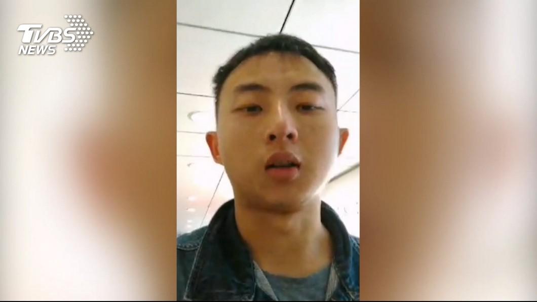 圖/TVBS 稱被指勾結港獨! 陸籍男「跳機」尋庇護