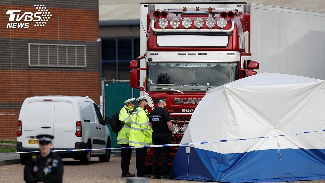 圖/達志影像路透社 貨櫃39屍命案 陸媒:卡車、貨櫃分別入境英國