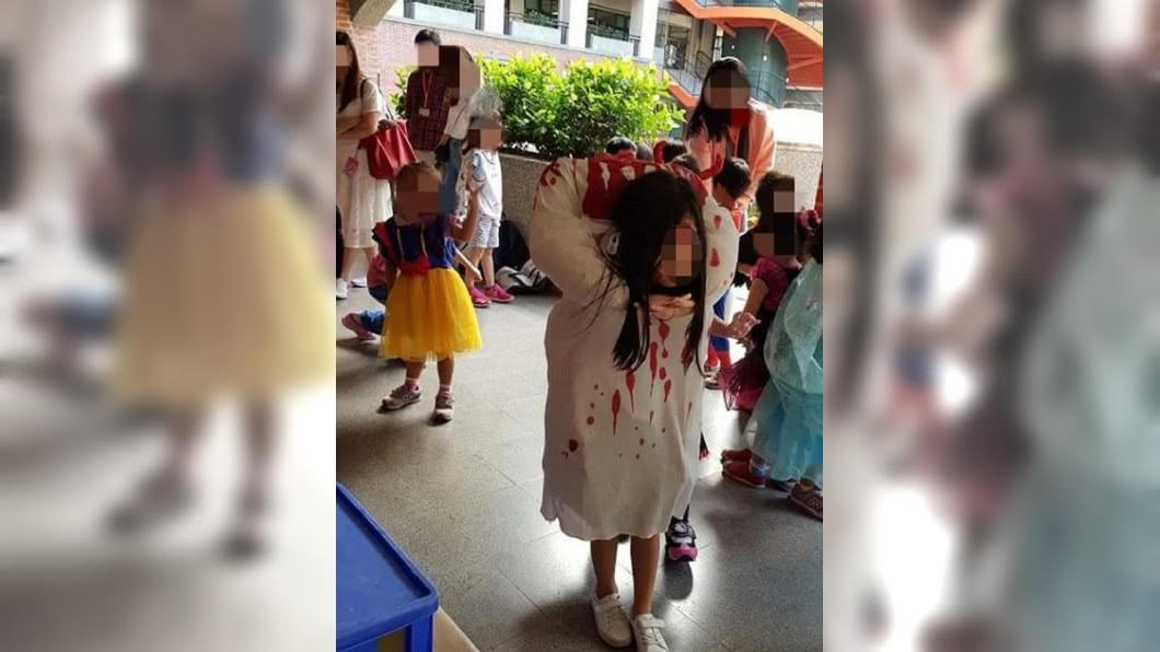 圖/翻攝自臉書社團「爆怨公社」 母巧手裝扮「斷頭貞子」 女兒哭訴:沒朋友了啦!