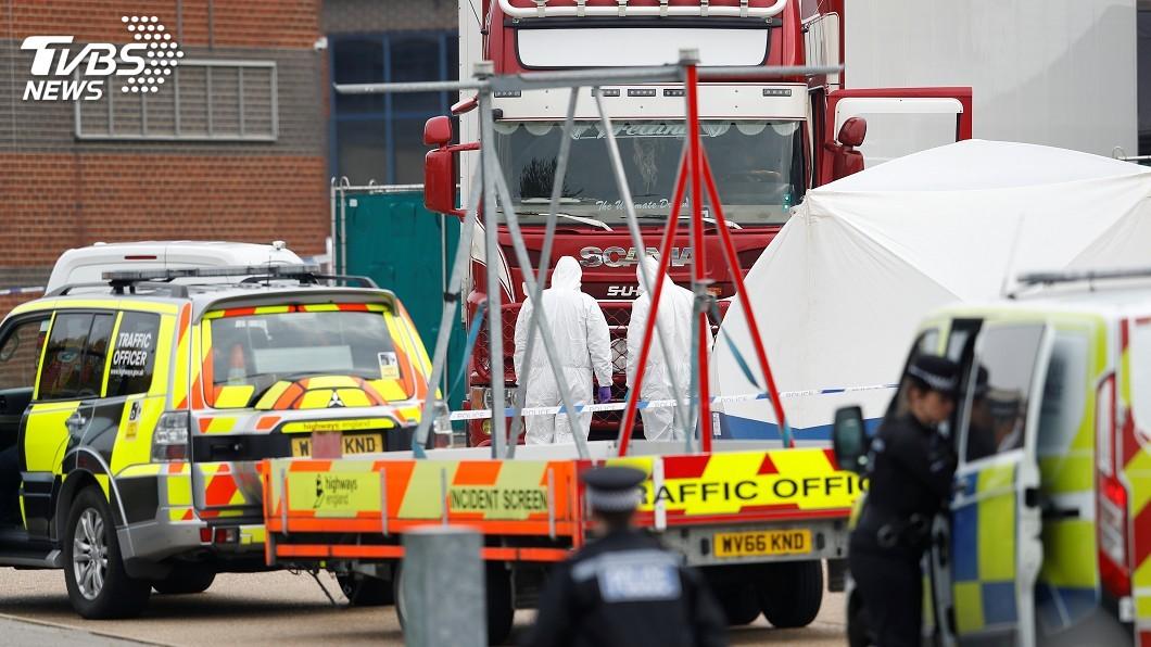 圖/達志影像路透社 英國貨櫃車39屍案 2000年「多佛慘案」翻版