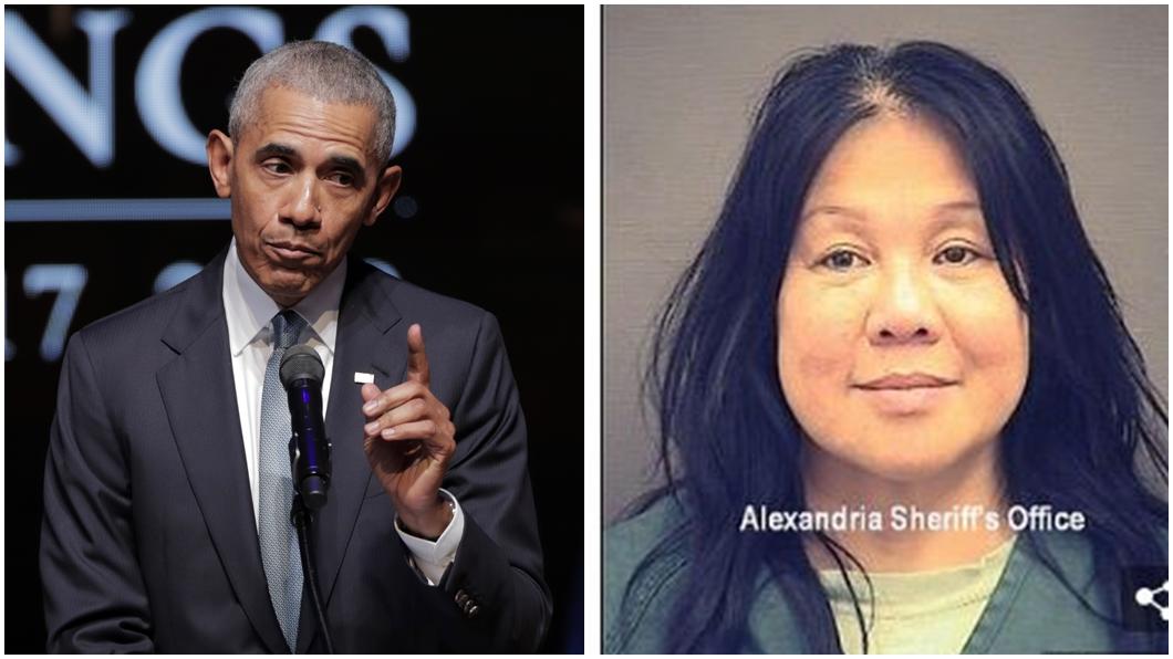 謝小英(右),過去20年來偽裝各種身份,包括美國前總統歐巴馬(左)好友。圖/達志影像美聯社、翻攝自dailymail網站 裝歐巴馬好友李光耀孫女 「千面女大盜」行騙20年遭逮