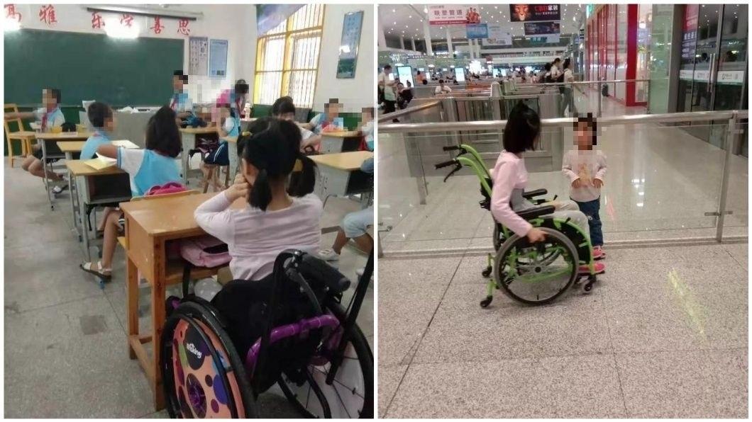 江西1名女童上課做了10下伏地挺身後,出現下半身癱瘓的情況。(圖/翻攝自陸網) 被罰10下伏地挺身 小三女童終身癱瘓