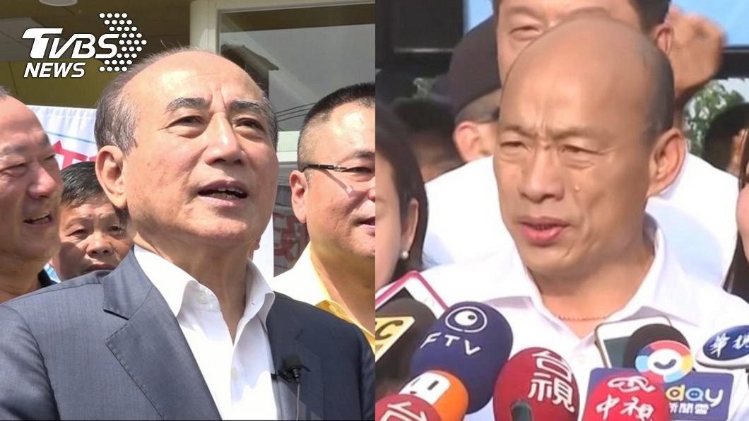 前立法院長王金平(左)、韓國瑜(右)。(圖/TVBS資料畫面) 如何建議韓國瑜下一步? 王金平:他會自己處理