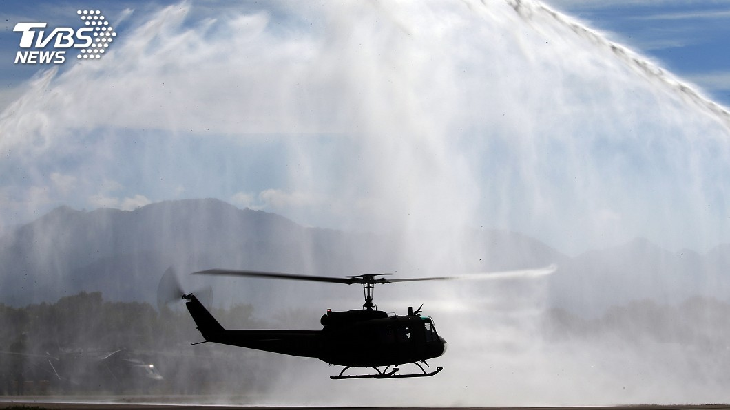 圖/中央社 UH-1H直升機正式除役 部分轉贈友邦史瓦帝尼