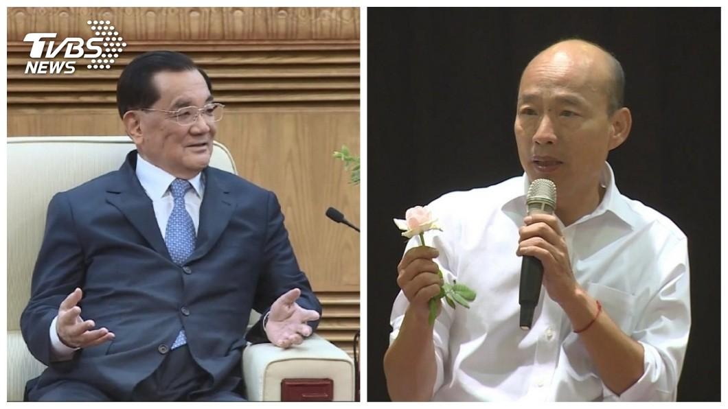 國民黨榮譽主席連戰將接任韓國瑜全國總會長,並將設置英雄宴整合黨內團結。(圖/TVBS) 出手救韓!連戰設「英雄宴」整合 朱立倫傳接總主委