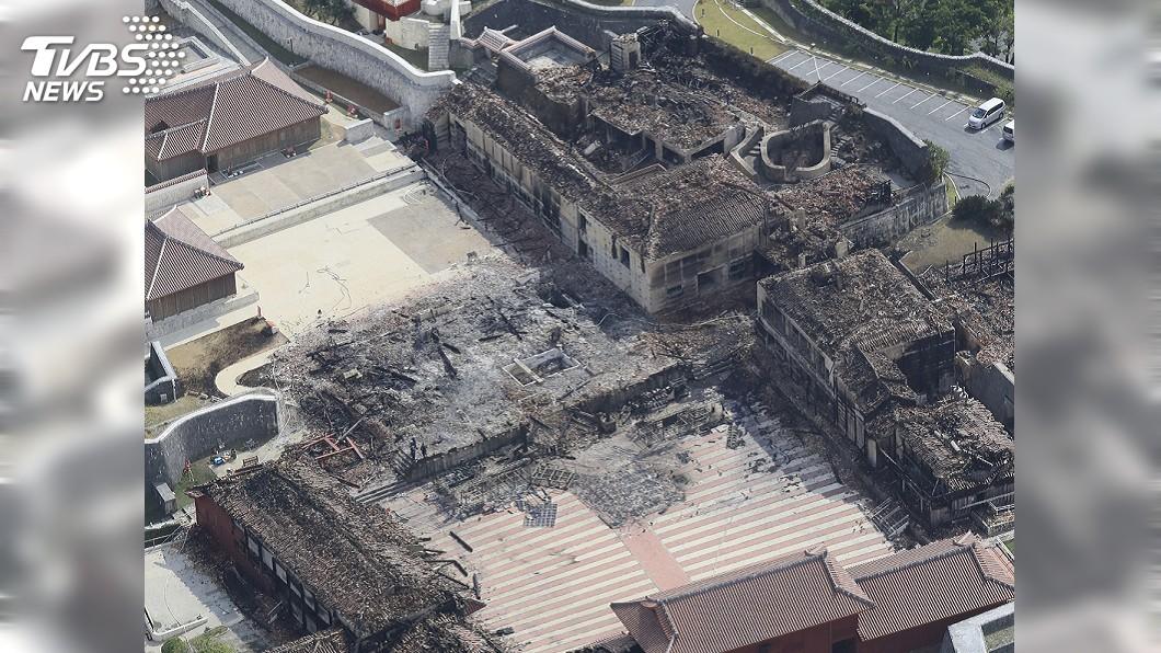 圖/達志影像美聯社 沖繩首里城大火 燒出日本各地古蹟危機意識
