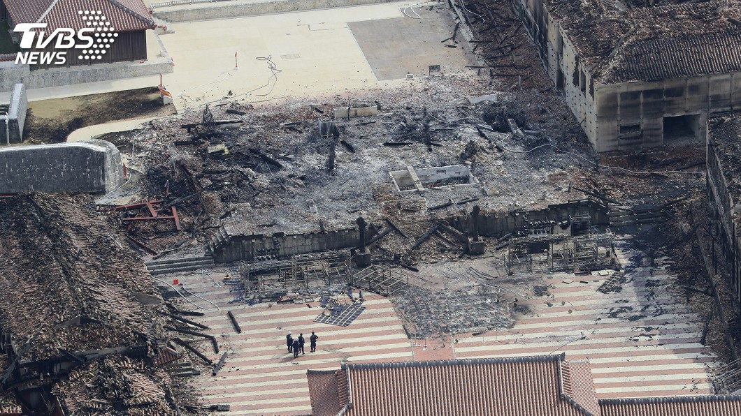 圖/達志影像美聯社 首里城火燒73億日圓 桐油、沒自動灑水釀災