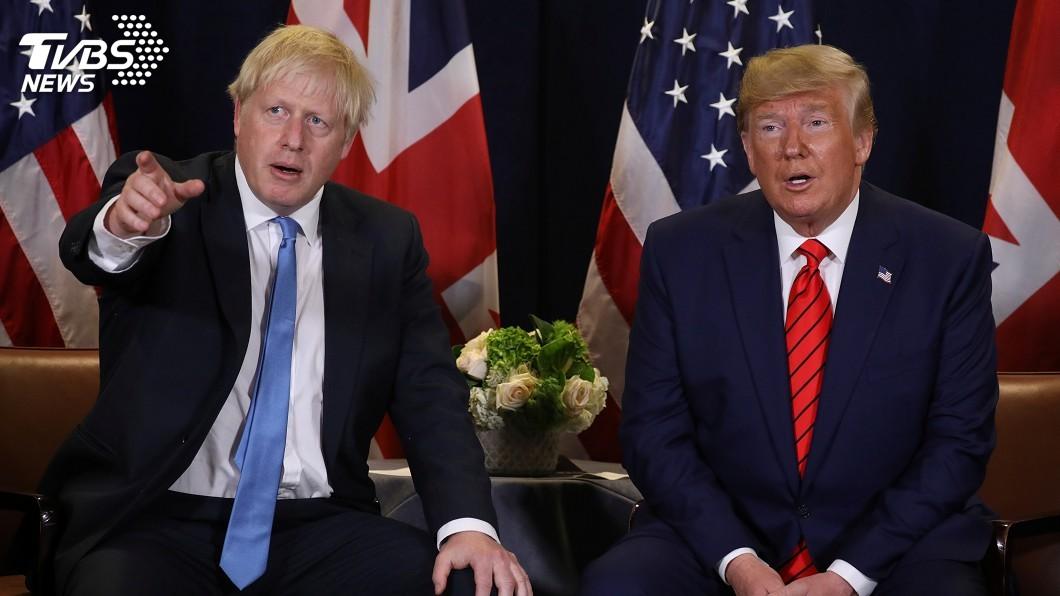 圖/達志影像路透社 川普又評論英國政壇 籲首相強生鞏固英美貿易