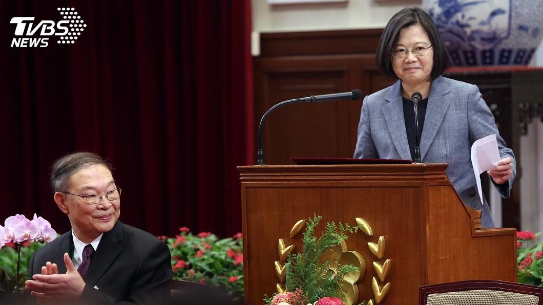 圖/中央社 蔡總統:國際挺台力道增強 台美關係愈來愈緊密