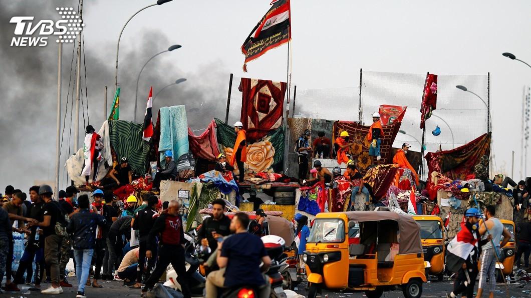 圖/達志影像路透社 伊拉克示威潮重挫經濟 總理籲民眾回歸日常