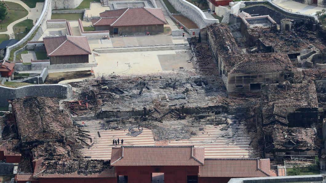 圖/達志影像美聯社 沖繩重建首里城  培植羅漢松百年大計