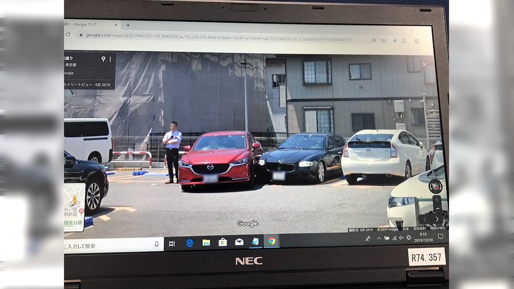 圖/翻攝@remiria_cbr  推特 愛車被刮!靠街景地圖找真兇 網一看秒懂:難怪要逃