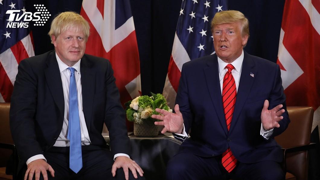 圖/達志影像路透社 美英貿易很重要 川普、強生通話重申致力達成協議