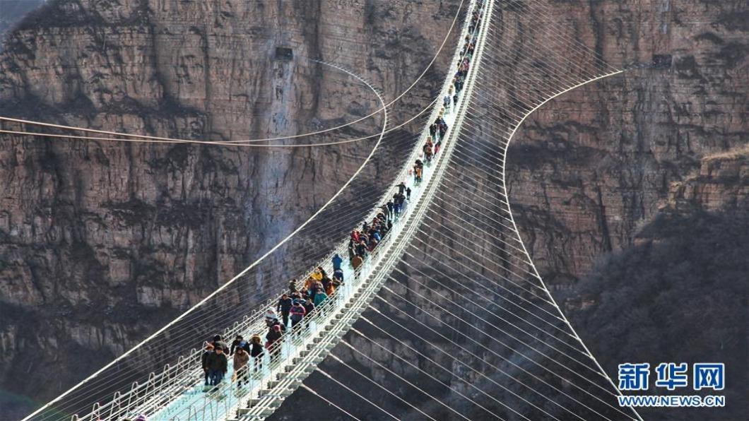 圖/翻攝自 新華網 封殺天空步道 中國一聲令下.此景難再