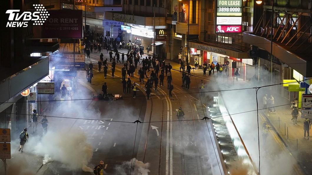 圖/達志影像美聯社 香港建制派呼應北京 稱法官有責「止暴制亂」
