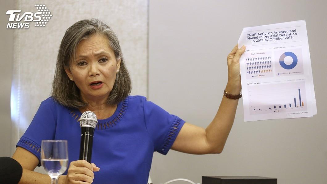 流亡美國的柬埔寨反對派救國黨副主席莫淑華,昨天在雅加達召開記者會。圖/達志影像美聯社 柬埔寨反對派幹部遭拘留 年來近50異議分子被捕