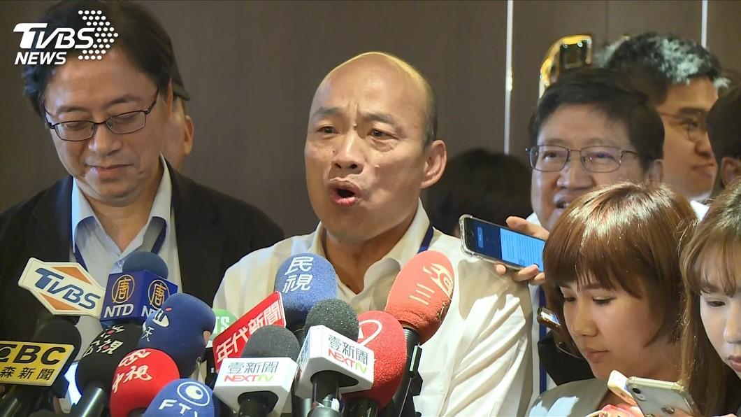圖/TVBS 綠營追擊豪宅風波 韓國瑜:長期失業怎麼施壓