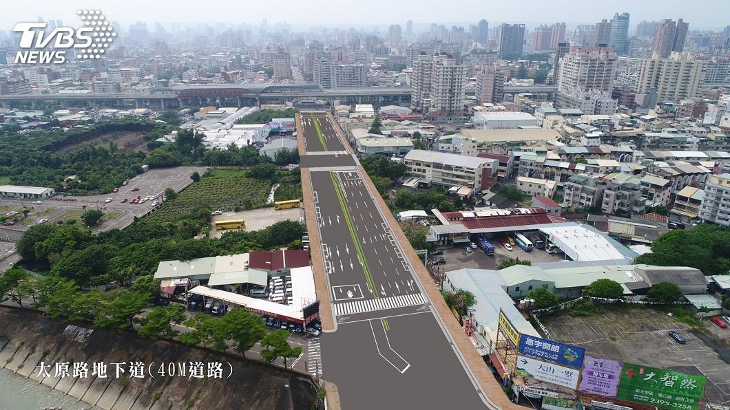 圖/市府提供 中市5處地下道填平工程年底動工 健全區域路網