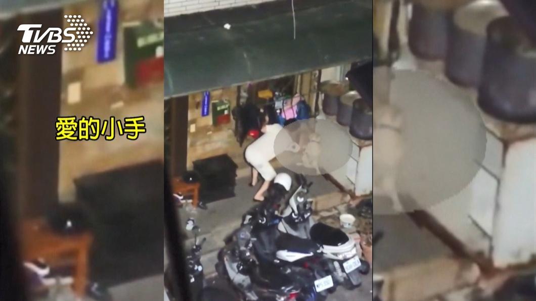 圖/TVBS 愛的小手管教狗!鄰居蒐證 夫妻涉虐報警