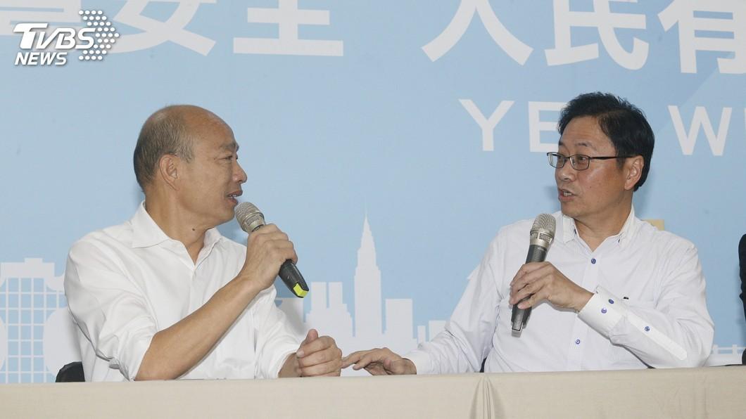 圖/中央社 韓國瑜宣布搭檔張善政 藍委:互補有加分