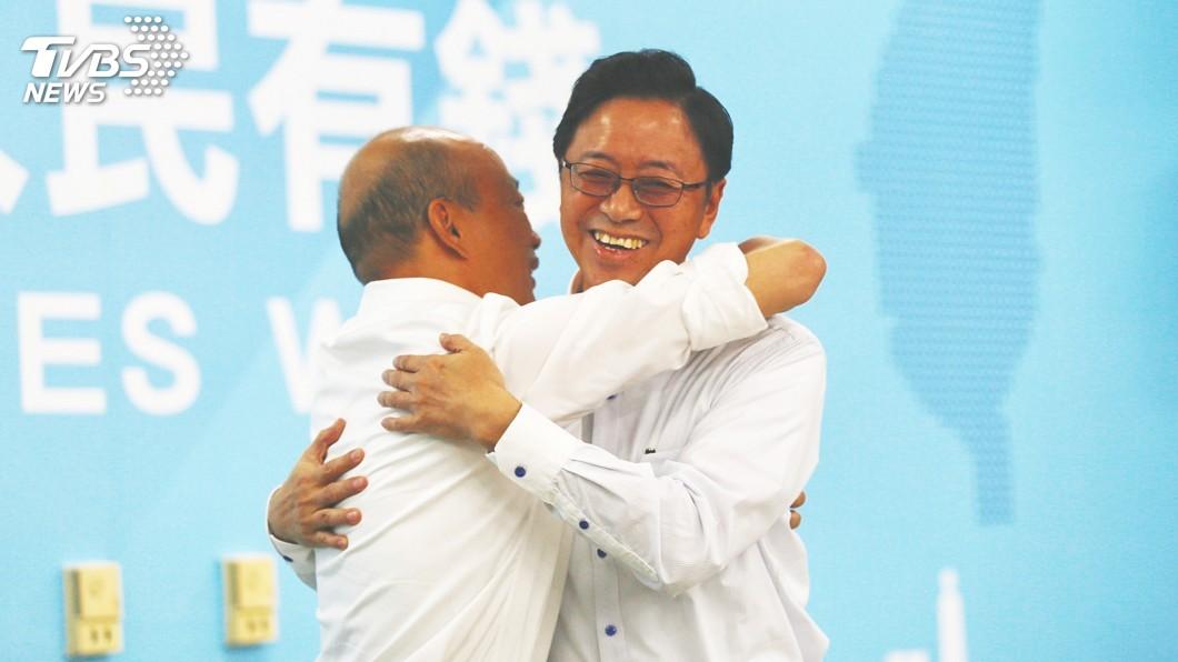 圖/中央社 「國政配」成軍 朱:兩人一定能同心協力打贏選戰