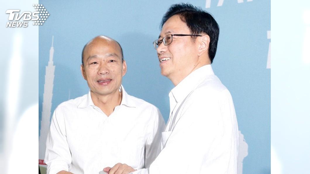 圖/中央社 「國政配」成軍 韓國瑜:攜手張善政堅定走選戰