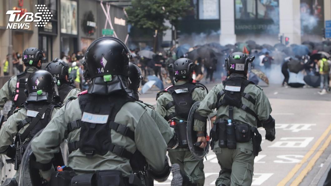 圖/中央社 香港三罷遊行癱瘓中環交通 一度朝向政府總部