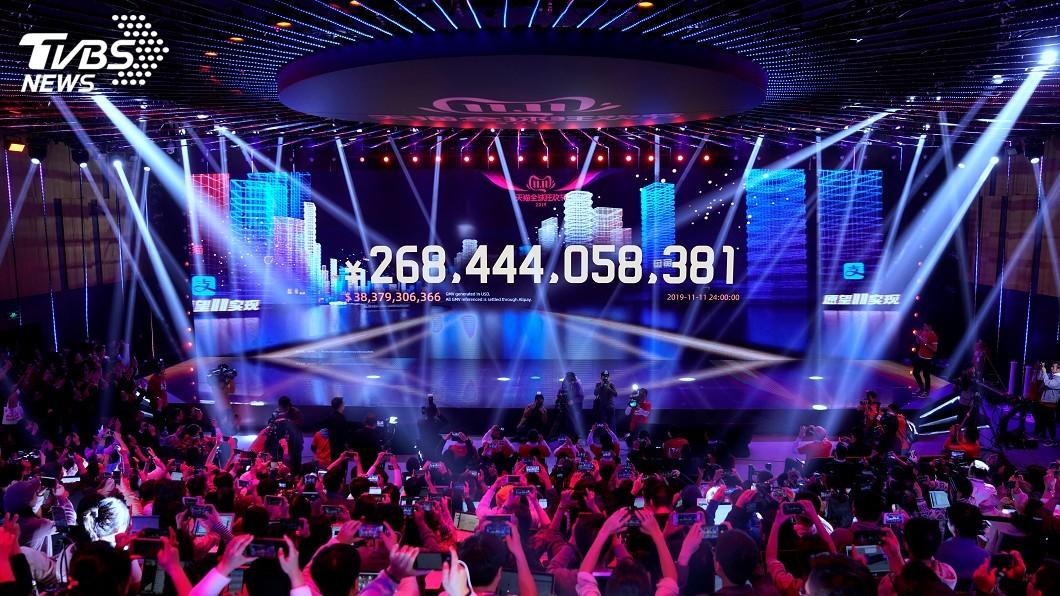 圖/達志影像路透社 2019天貓「雙11」再創紀錄! 業績逾1.15兆