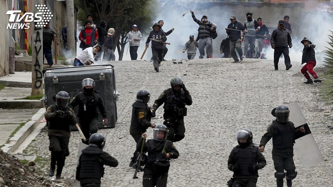 圖/達志影像美聯社 玻利維亞陷混亂 辭職總統籲在野黨安定國家大局