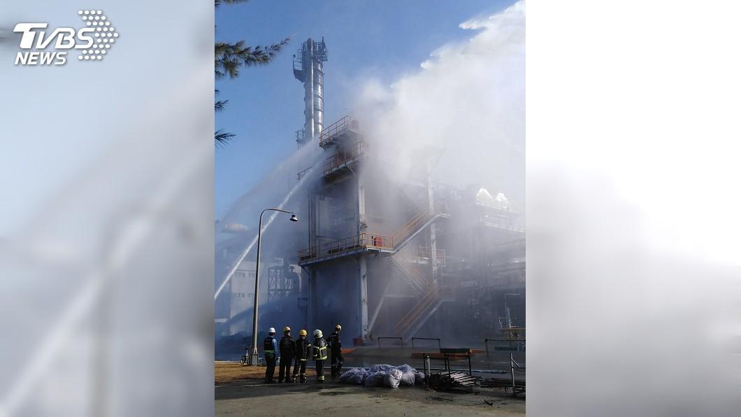 圖/雲林縣消防局提供 六輕工安意外 張麗善:國家級災害應變中心刻不容緩