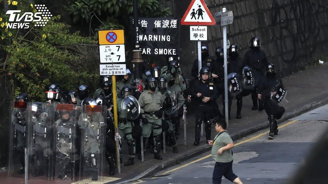 圖/達志影像美聯社 港中大學生會申請禁制令阻警方強闖 遭法院拒絕