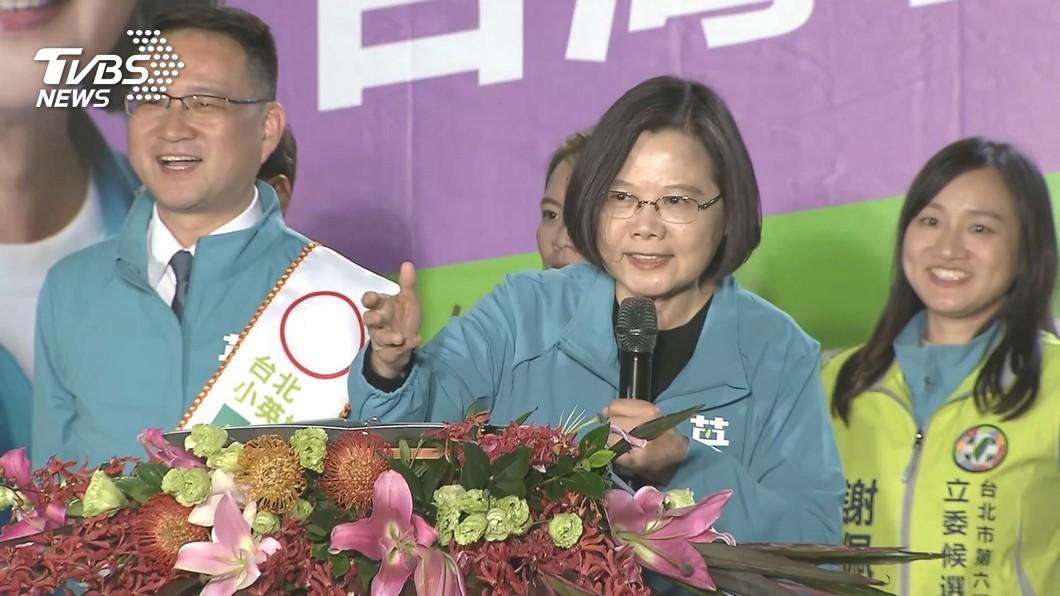 圖/TVBS資料畫面 韓陣營再批上班輔選 蔡總統:總統工作是24小時