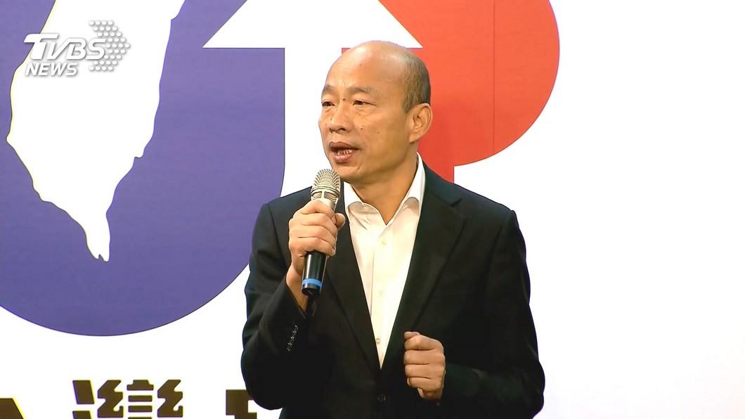 韓國瑜將在下周公布全新「零到六歲國家幫忙養」托育政策。圖/TVBS 韓國瑜推「六六六」托育政策 補助給家長