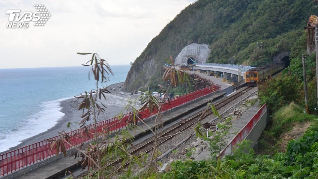 圖/中央社 多良隧道更貼近海邊 最美火車站將更美麗