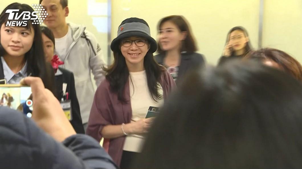 圖/TVBS 李佳芬抵東京 親赴12強賽為中華隊加油
