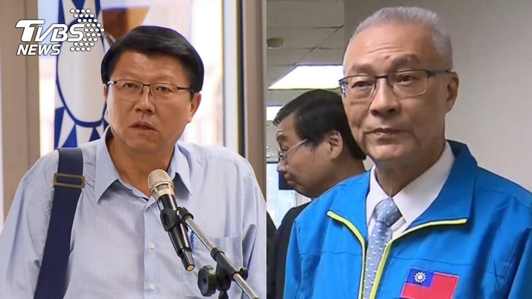 台南市黨部主委謝龍介(左)、黨主席吳敦義(右)。圖/TVBS資料畫面 謝龍介要負勝敗全責? 他質疑:那黨主席負什麼責