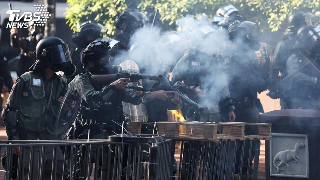圖/達志影像路透社 反送中示威衝突範圍縮小 香港理大成焦點