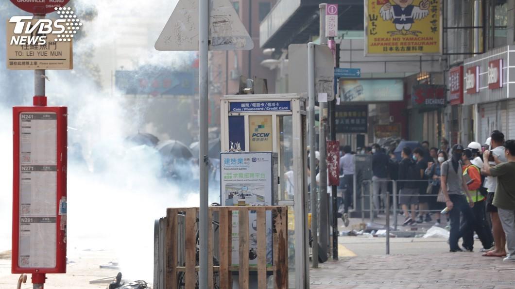 圖/中央社 香港抗爭衝突升溫 亞洲多家航空減少抵港航班