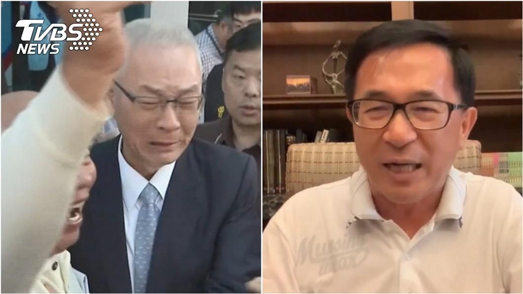 國民黨主席黨吳敦義(左)、前總統陳水扁(右)。圖/TVBS資料照 「同情吳敦義」 陳水扁:只撈個不分區立委一點也不過分