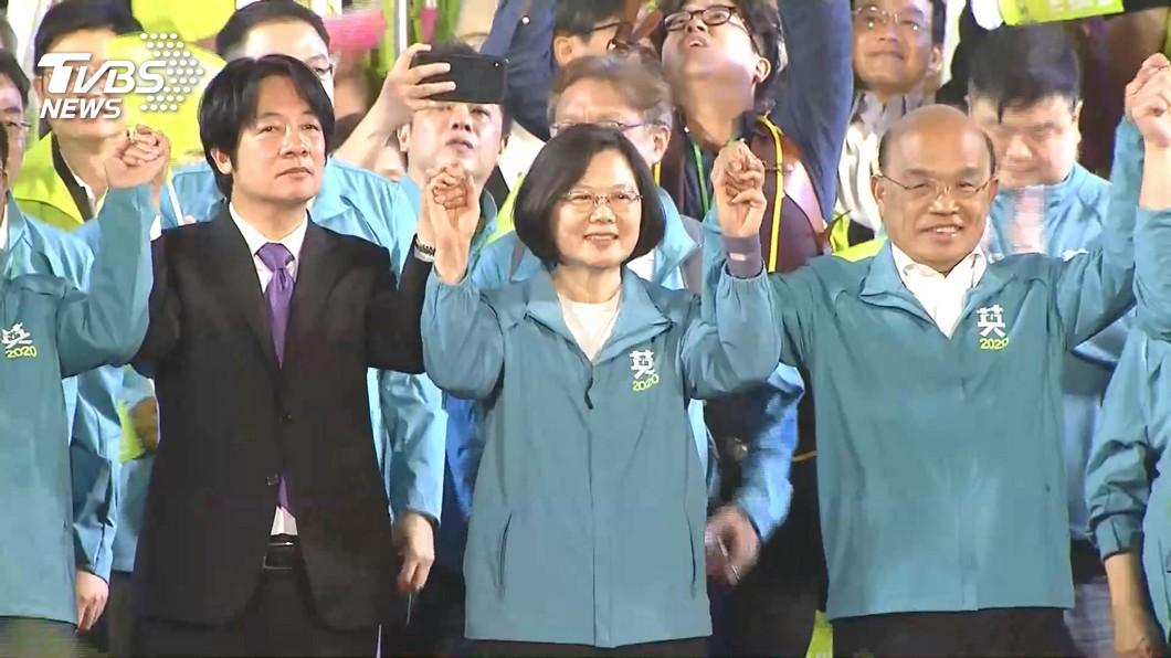 圖/TVBS 快訊/英德登記參選正副總統 15:35赴中選會
