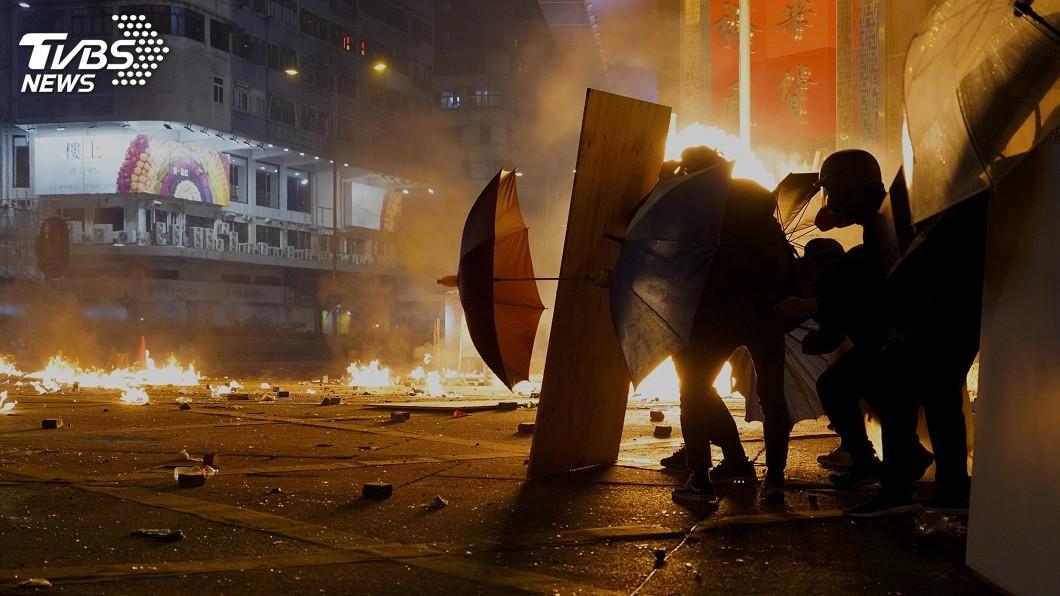 圖/達志影像美聯社 香港理大警民衝突 歐盟:不能接受暴力行為