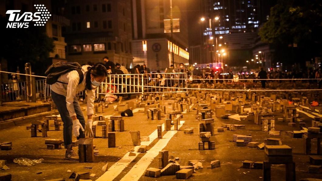 圖/中央社 香港暴力升溫引關切 中駐英大使警告英美勿干涉