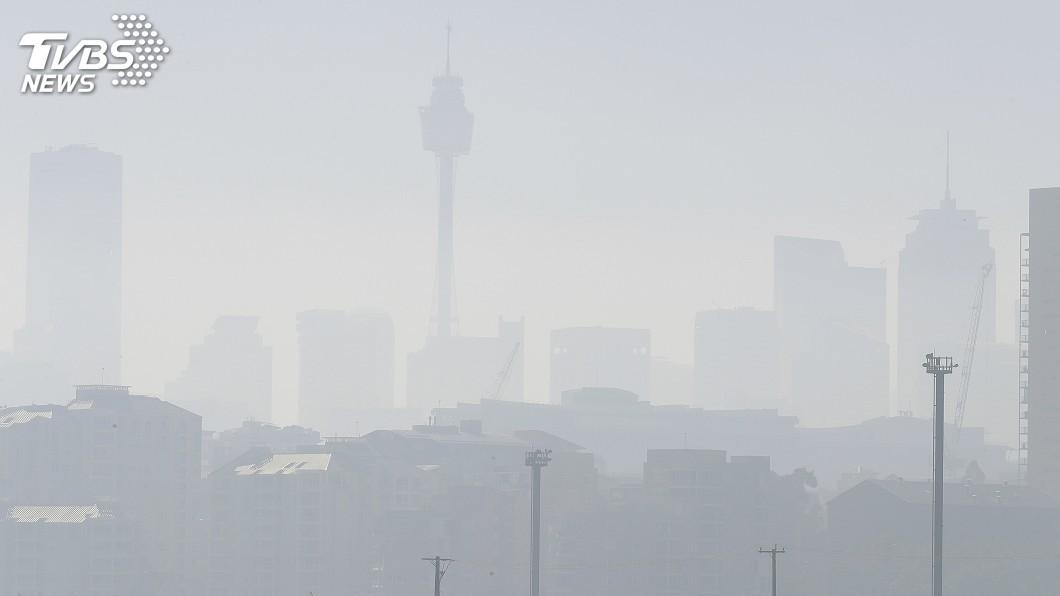 圖/達志影像美聯社 一片霧茫茫!澳洲野火威脅升高 危險煙霾籠罩雪梨