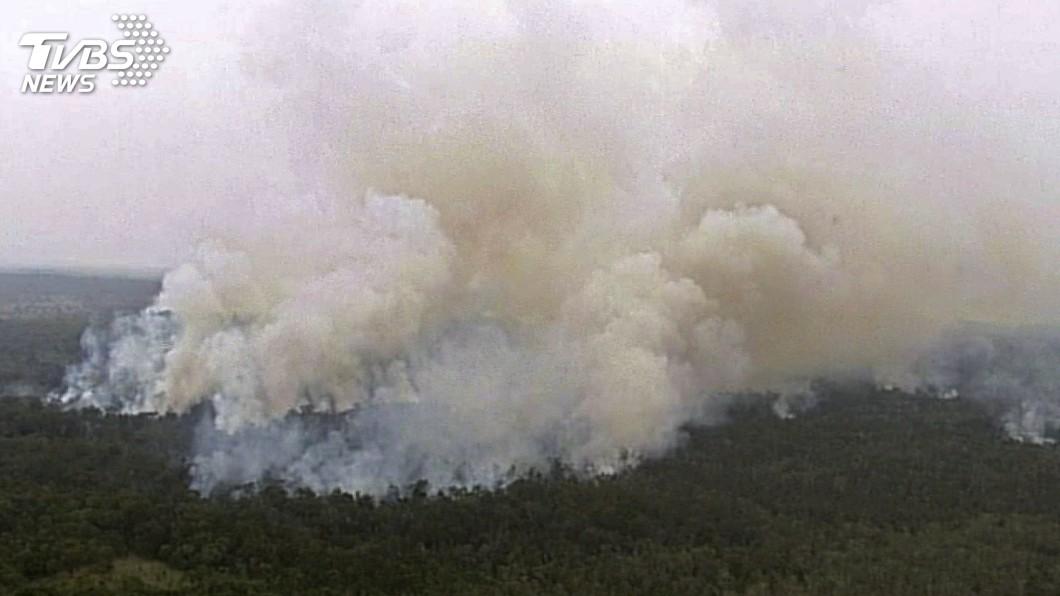 圖/達志影像美聯社 澳洲野火恐走向火風暴 隨氣候變遷將更常見